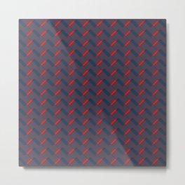 Woven Rectangles Metal Print