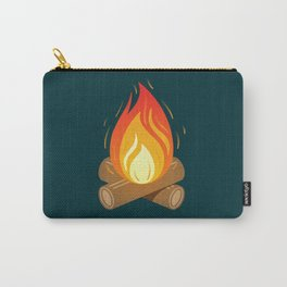 Camp Fire for Cold Nights Carry-All Pouch
