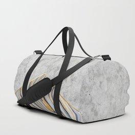Concrete Arrow - Blue Marble #177 Duffle Bag