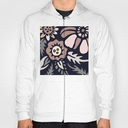 Folk Floral & Leaf Pattern In Neutral Earthtone Colors Hoody