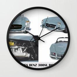 Classic blue car Wall Clock