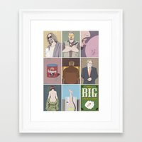 big lebowski Framed Art Prints featuring The Big Lebowski poster by illustrydom
