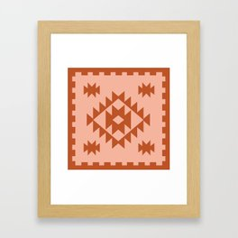 Zili in Peach Framed Art Print