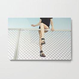 Hoping Fences Metal Print