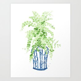 Ginger Jar + Maidenhair Fern Art Print