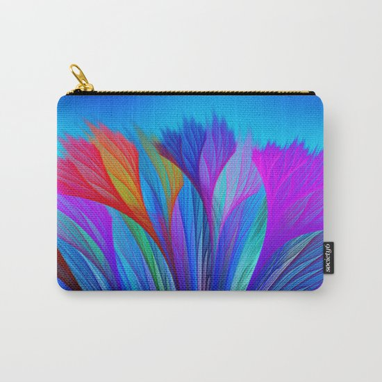 Flower Fantasy in Blue Carry-All Pouch