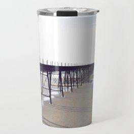 Victorian Pier - orange graphic Travel Mug