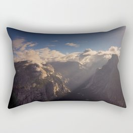 Sunrays Over Half Dome Rectangular Pillow