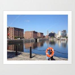 Albert Dock, Liverpool UK Art Print