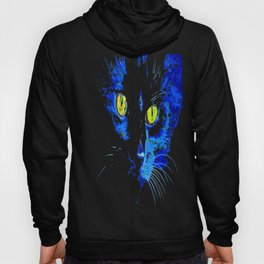 Marley The Cat Portrait With Striking Yellow Eyes Hoody