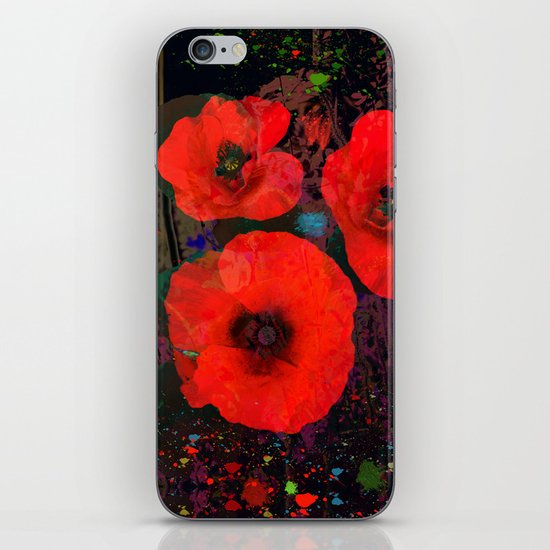 Popping Poppies iPhone & iPod Skin