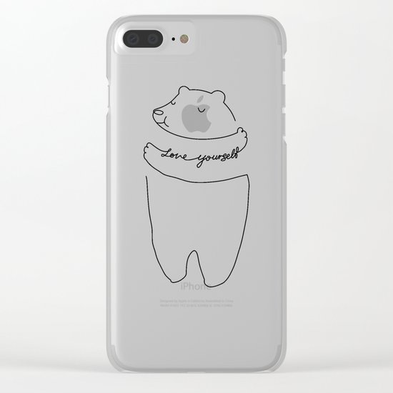 Love Yourself Clear iPhone Case