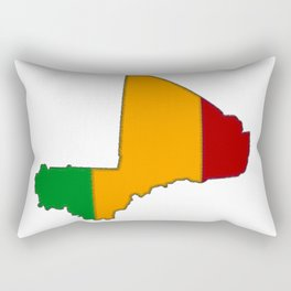Mali Map with Malian Flag 2 Rectangular Pillow