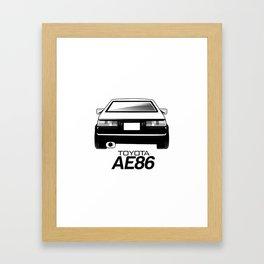 AE86 Framed Art Print