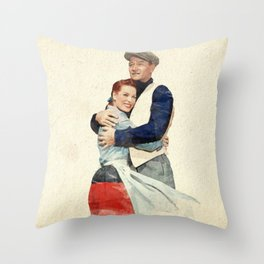 The Quiet Man - Watercolor Throw Pillow