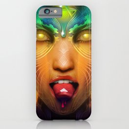 Vermilion Tongued Siren iPhone Case