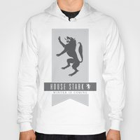 house stark Hoodies featuring House Stark Sigil by P3RF3KT