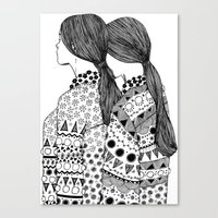 twins Canvas Prints featuring Twins by La Thai