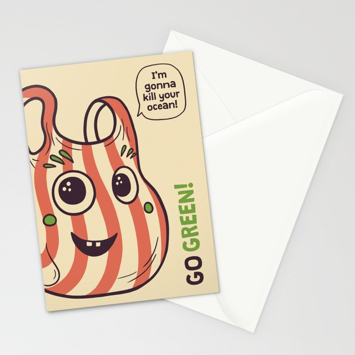 No to plastic bags! Stationery Cards
