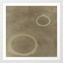 Two Circles - Modern Art - Abstract - California Cool - Popular Painterly - Law Of Attraction Art Print