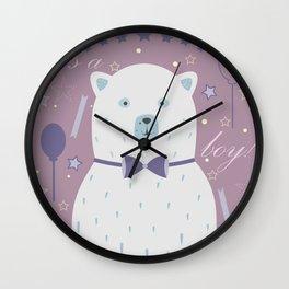 Cute Bear Wall Clock