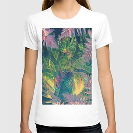 Abstract Floral Fern Tree Fairyland T-shirt