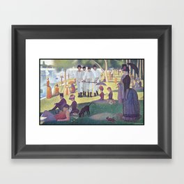 A Clockwork Sunday Framed Art Print