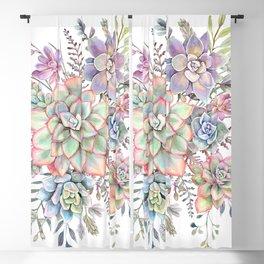 Watercolor Succulent #56 Blackout Curtain