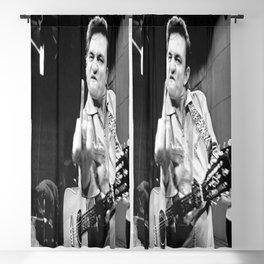 Johnny Cash Flipping the Bird Premium Paper Poster Blackout Curtain