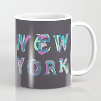 nyc Mugs featuring NYC by Fimbis