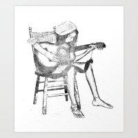musical solitude Art Print