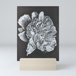 Tennessee Peony black and white Mini Art Print