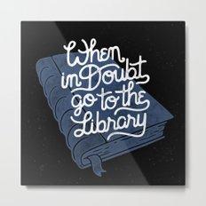 Library Metal Print