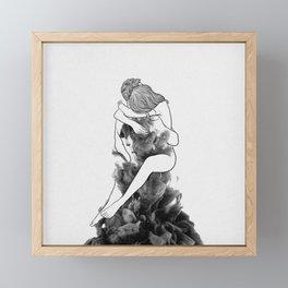 I find peace in your hug. Framed Mini Art Print