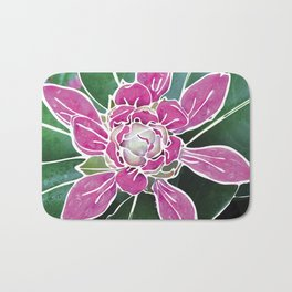 Batik Rhododendron Bath Mat