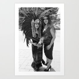 Mexica & The Chola Art Print