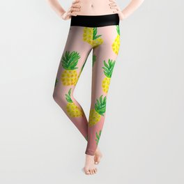 Watercolor Pineapple Leggings