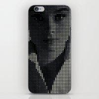 hepburn iPhone & iPod Skins featuring Hepburn by Robotic Ewe