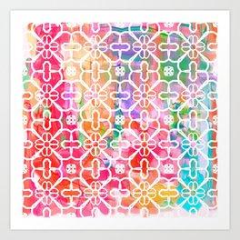 Watercolor Paint Flower Art Print