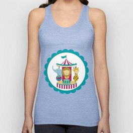 Carousel animals Unisex Tank Top