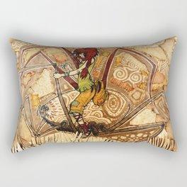 Patched Rectangular Pillow