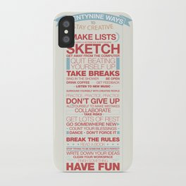 29 Ways to Stay Creative iPhone Case