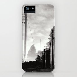 Ghostly Lines iPhone Case