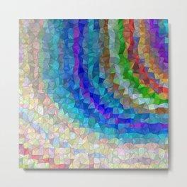 Mosaic colored pattern Metal Print