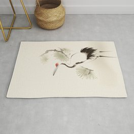 Oriental Red-Crowned Crane 002 Rug