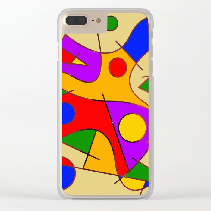 Abstract #206 Clear iPhone Case
