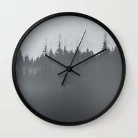 norway Wall Clocks featuring Norway by Mrs Araneae