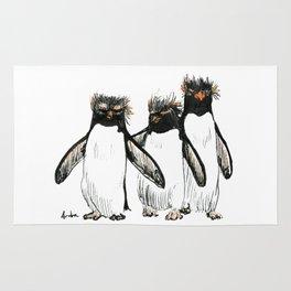 Macaroni Penguin Gang Rug