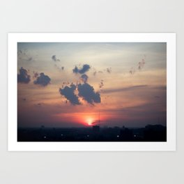 Detroit Sunset 1  Art Print