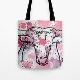 Pink Cow Tote Bag